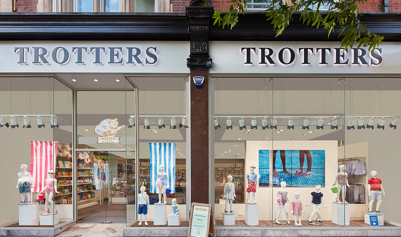 Trotters childrenswear storefront
